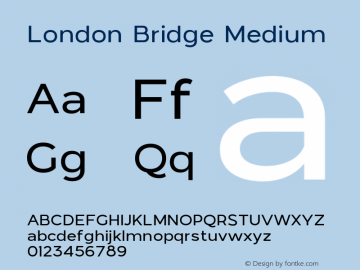 LondonBridge-Medium Version 1.000图片样张