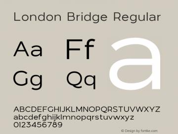 LondonBridge-Regular Version 1.000图片样张