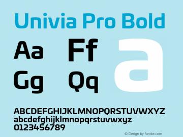 UniviaPro-Bold Version 001.000图片样张