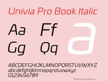 UniviaProBook-Italic Version 001.000图片样张