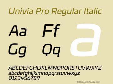 UniviaProRegular-Italic Version 001.000图片样张