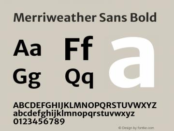 Merriweather Sans Bold Version 2.001 Font Sample