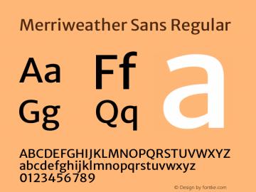 Merriweather Sans Regular Version 2.001 Font Sample