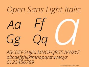 Open Sans Light Italic Version 1.10图片样张