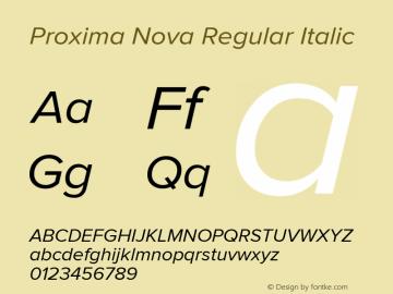 Proxima Nova Regular Italic Version 2.003图片样张