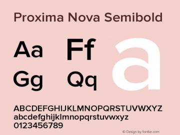 Proxima Nova Semibold Version 2.003图片样张