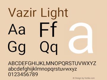 Vazir Light Version 18.0.0图片样张
