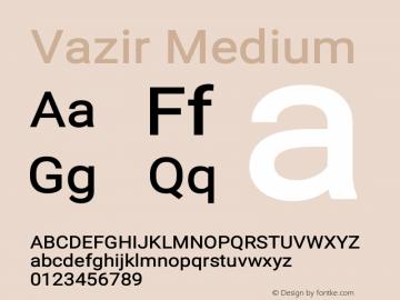 Vazir Medium Version 18.0.0图片样张