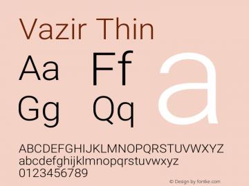 Vazir Thin Version 18.0.0图片样张