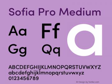 SofiaPro-Medium Version 2.000图片样张