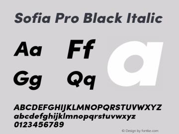 SofiaPro-BlackItalic Version 2.000图片样张
