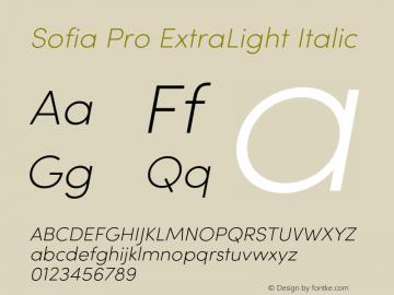 SofiaPro-ExtraLightItalic Version 2.000图片样张
