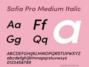 SofiaPro-MediumItalic Version 2.000图片样张
