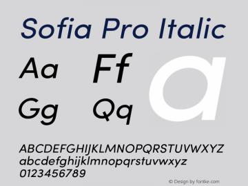 SofiaPro-Italic Version 2.000图片样张