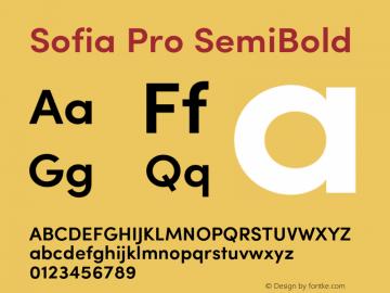 SofiaPro-SemiBold Version 2.000图片样张