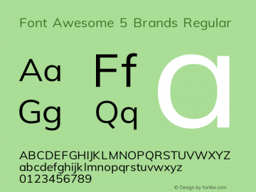Font Awesome 5 Brands Regular 331.523 (Font Awesome version: 5.15.3)图片样张