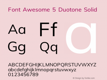 Font Awesome 5 Duotone Solid 330.752 (Font Awesome version: 5.12.0)图片样张