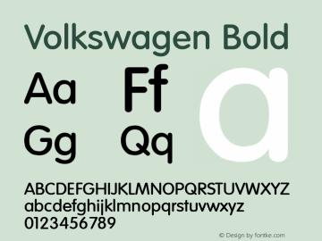 Volkswagen Bold Altsys Fontographer 3.5  9/24/93图片样张