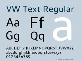 VW Text Version 1.000图片样张