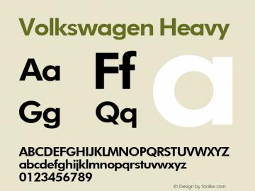 Volkswagen Heavy Macromedia Fontographer 4.1.2 4/19/99图片样张