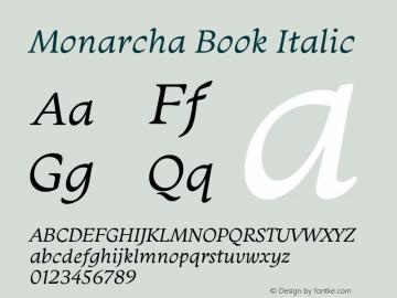 Monarcha-BookItalic Version 1.00图片样张