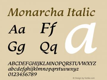 Monarcha-Italic Version 1.00图片样张