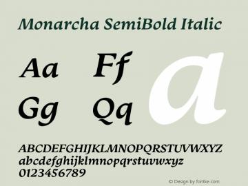 Monarcha-SemiBoldItalic Version 1.00图片样张