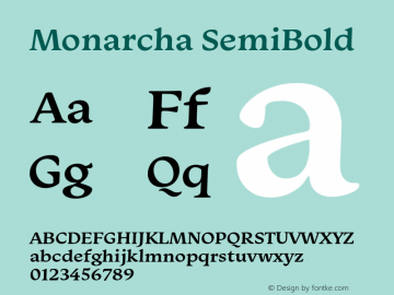 Monarcha-SemiBold Version 1.00图片样张