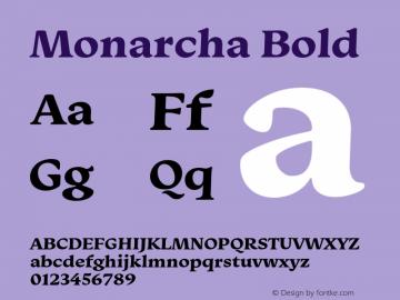 Monarcha-Bold Version 1.00图片样张