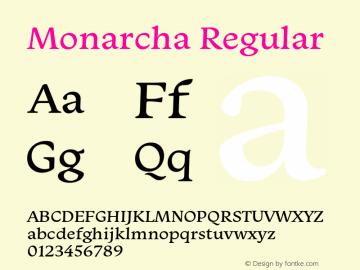 Monarcha-Regular Version 1.00图片样张