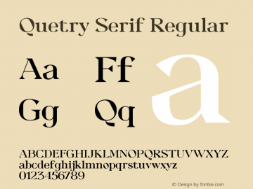 QuetrySerif-Regular Version 1.000图片样张