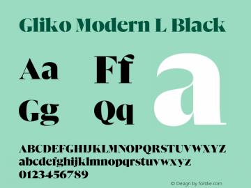 Gliko Modern L Black Version 2.000   w-rip DC20200115图片样张