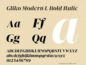 Gliko Modern L Bold Italic Version 2.000   w-rip DC20200115图片样张