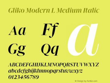 Gliko Modern L Medium Italic Version 2.000   w-rip DC20200115图片样张