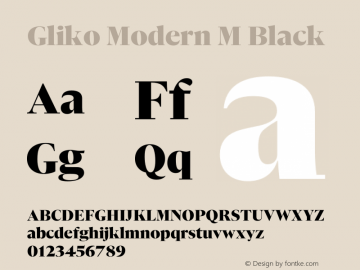 Gliko Modern M Black Version 2.000 | w-rip DC20200115图片样张