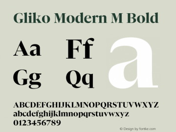 Gliko Modern M Bold Version 2.000   w-rip DC20200115图片样张