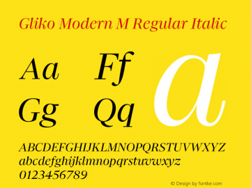 Gliko Modern M Italic Version 2.000   w-rip DC20200115图片样张