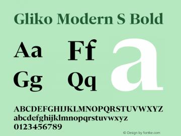 Gliko Modern S Bold Version 2.000 | w-rip DC20200115图片样张