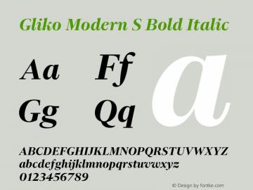 Gliko Modern S Bold Italic Version 2.000 | w-rip DC20200115图片样张