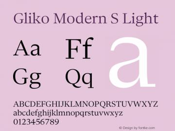 Gliko Modern S Light Version 2.000 | w-rip DC20200115图片样张
