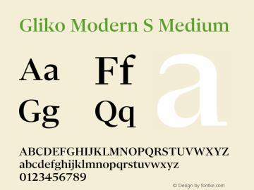 Gliko Modern S Medium Version 2.000 | w-rip DC20200115图片样张