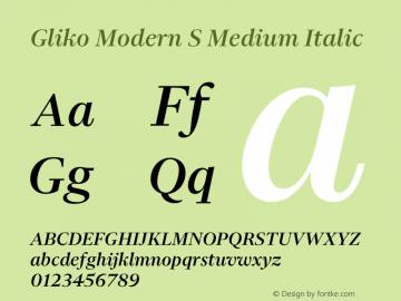 Gliko Modern S Medium Italic Version 2.000 | w-rip DC20200115图片样张