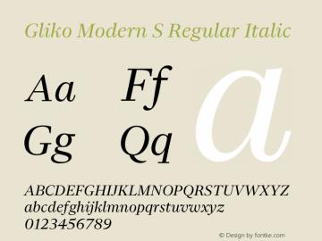 Gliko Modern S Italic Version 2.000 | w-rip DC20200115图片样张