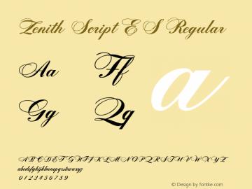 Zenith Script ES Regular 5.7图片样张