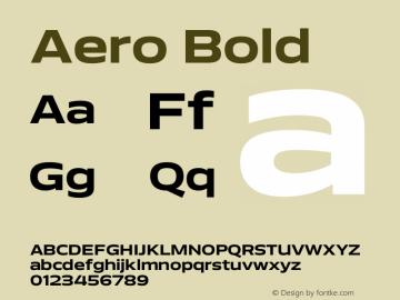 Aero-Bold Version 0.000 | wf-rip DC20110725图片样张