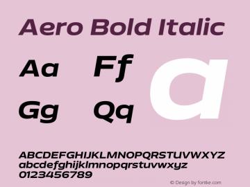 Aero-BoldItalic Version 0.000 | wf-rip DC20110725图片样张