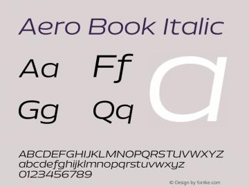 Aero-BookItalic Version 1.000 | wf-rip DC20110725图片样张