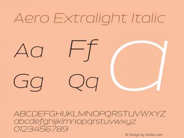 Aero-ExtralightItalic Version 0.000 | wf-rip DC20110725图片样张