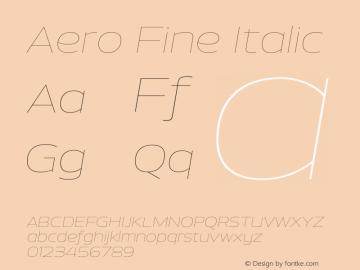 Aero-FineItalic Version 0.000 | wf-rip DC20110725图片样张