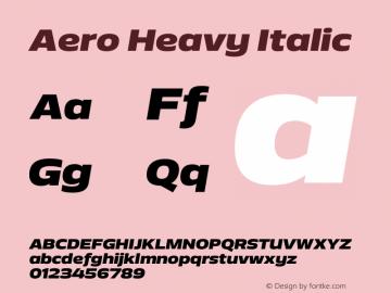 Aero-HeavyItalic Version 1.000 | wf-rip DC20110725图片样张